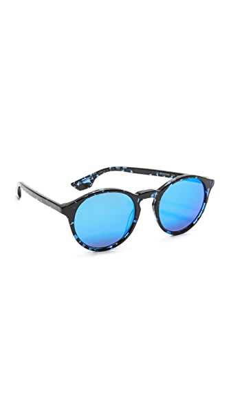 McQ - Alexander McQueen Солнцезащитные очки в округлой оправе с зеркальными линзами