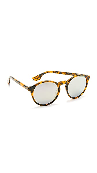 McQ Alexander McQueen Round Mirrored Sunglasses