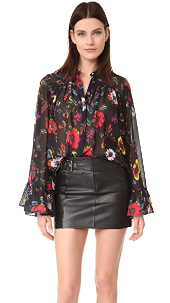 McQ Alexander McQueen Gathered Volume Blouse
