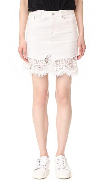 McQ - Alexander McQueen Short Hybrid Lace Skirt