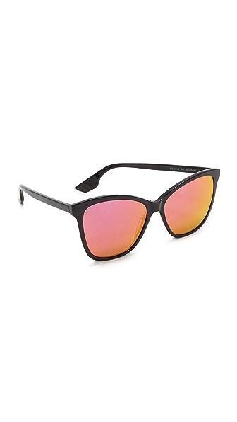McQ Alexander McQueen Mirrored Wayfarer Sunglasses