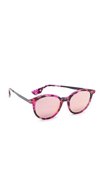 McQ - Alexander McQueen Pantos Sunglasses - Pink Havana/Blue