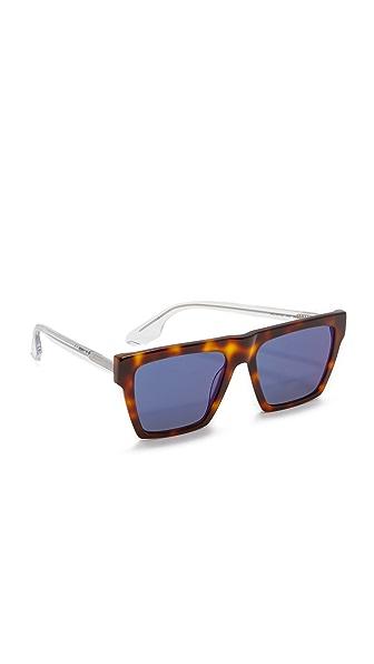 McQ Alexander McQueen Oversized Flat Top Sunglasses