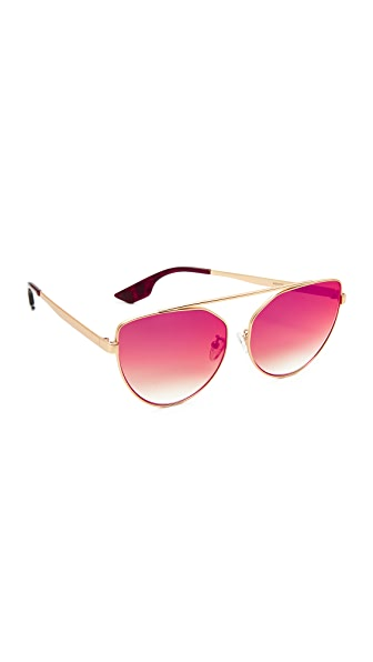McQ - Alexander McQueen Cat Eye Brow Bar Sunglasses