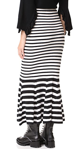 McQ - Alexander McQueen Twisted Stripe Skirt