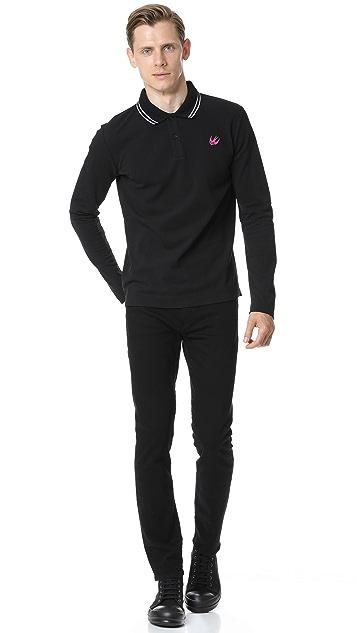 McQ - Alexander McQueen MCQ Long Sleeve Polo Shirt