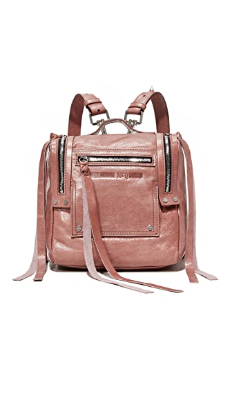 McQ - Alexander McQueen Mini Convertible Box Backpack In Dirty Pink