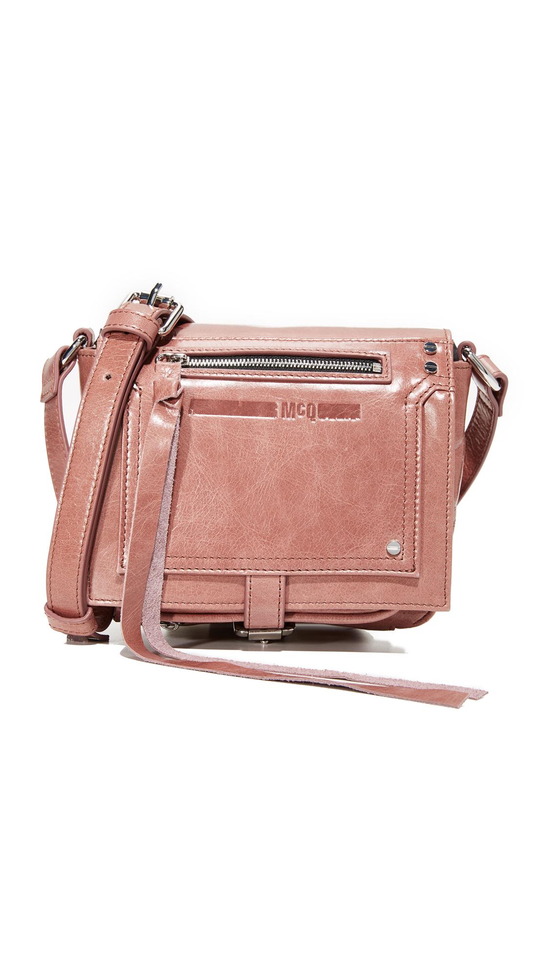 McQ - Alexander McQueen Biker Cross Body Bag - Dirty Pink
