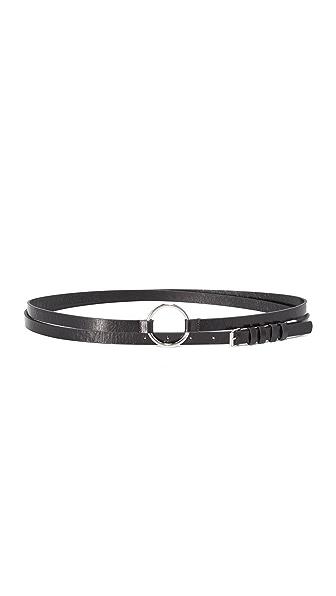 McQ - Alexander McQueen Double Wrap Belt - Black