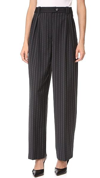 McQ - Alexander McQueen Double Pleat Trousers - Darkest Black