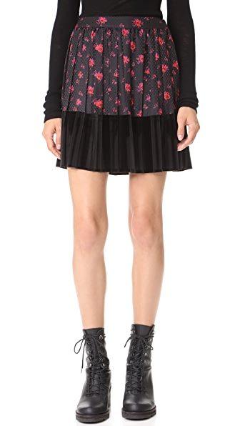McQ - Alexander McQueen Short Pleat Skirt - Amp Floral