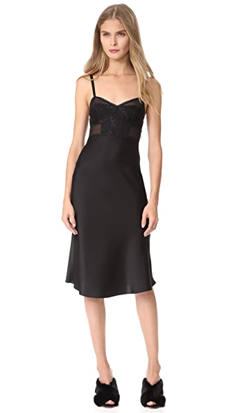 McQ - Alexander McQueen Bra Bias Dress - Black