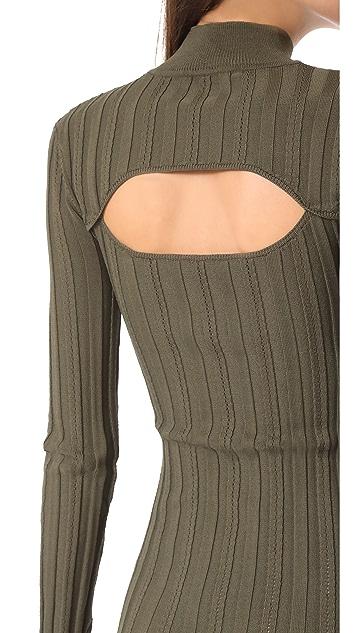 McQ - Alexander McQueen Lace Rib Open Dress