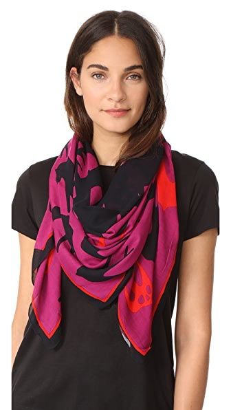 McQ - Alexander McQueen Swallow Swarm Scarf - Amp Pink