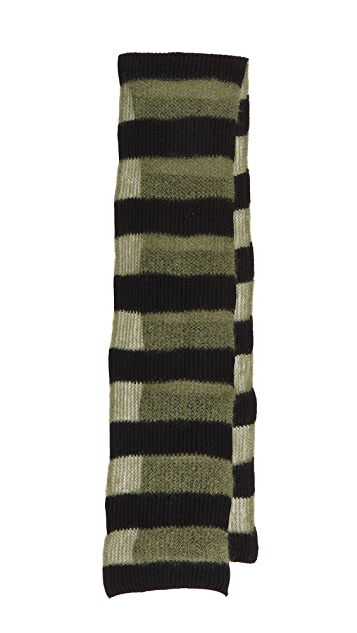 McQ - Alexander McQueen Brushed Stripe Scarf