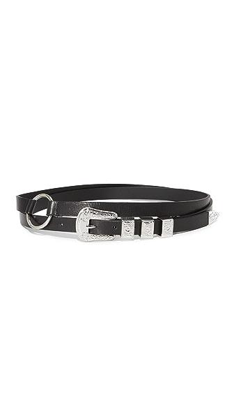 McQ - Alexander McQueen Solstice Double Wrap Belt In Black