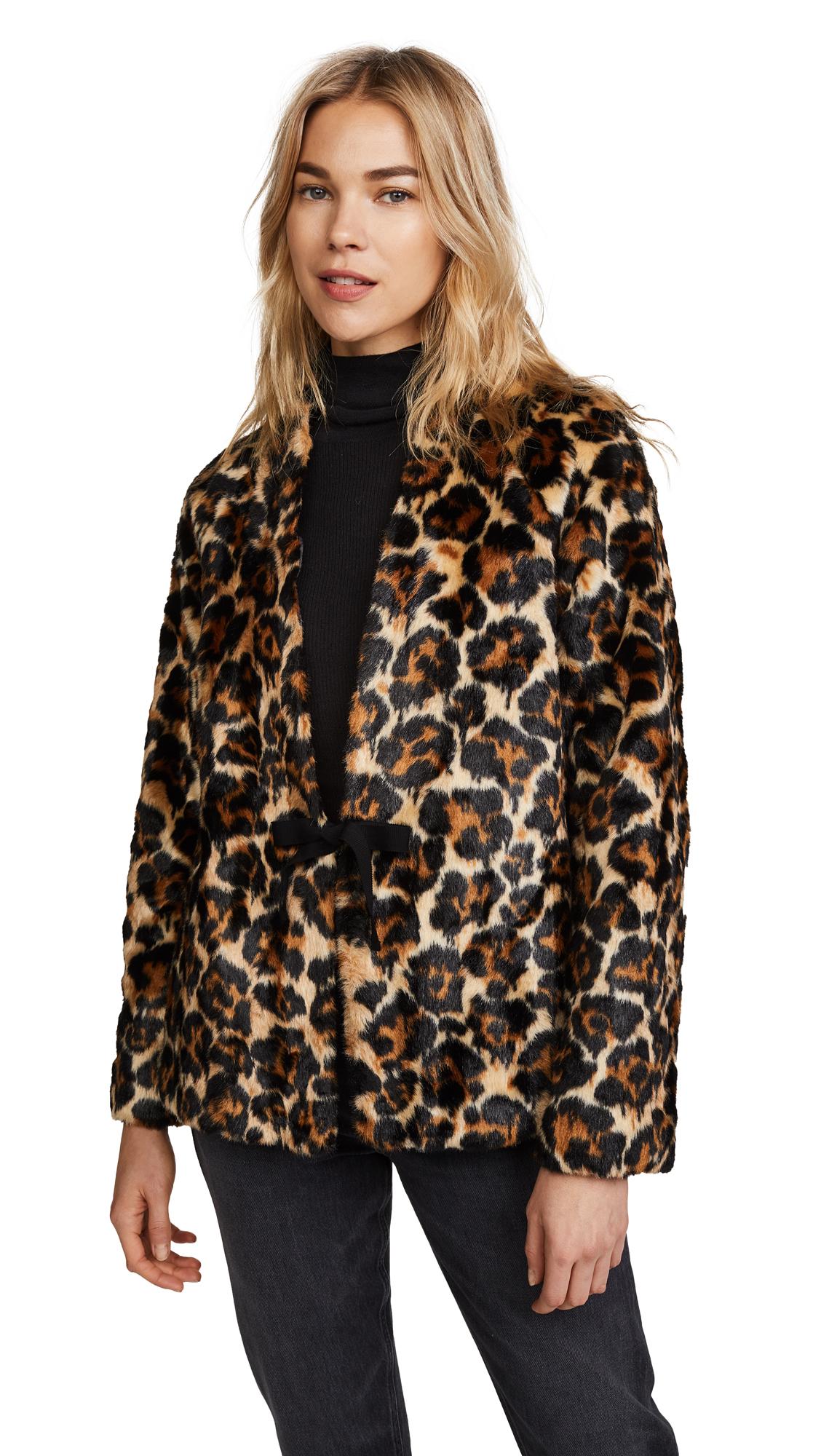McQ - Alexander McQueen Short Leopard Coat