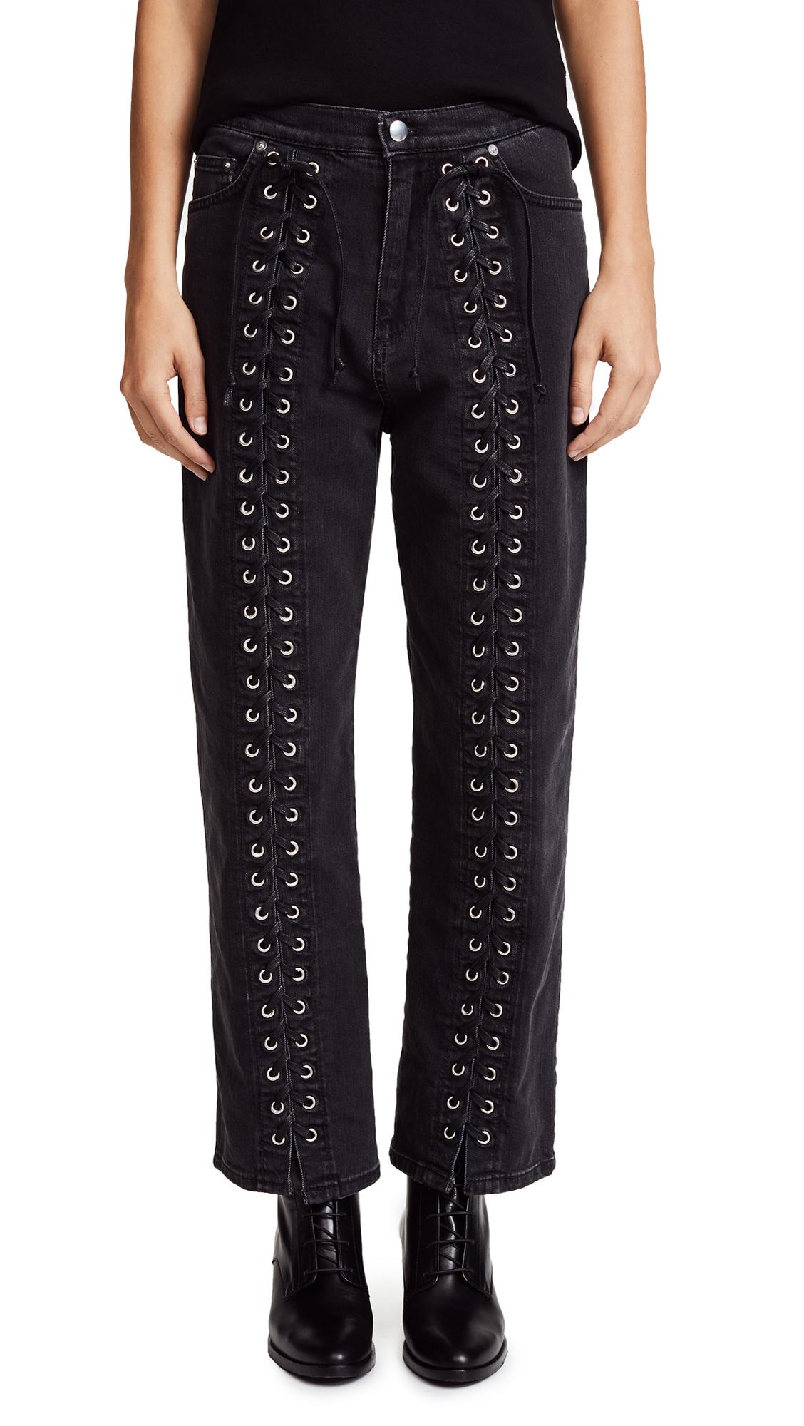 McQ - Alexander McQueen Front Lace Jeans