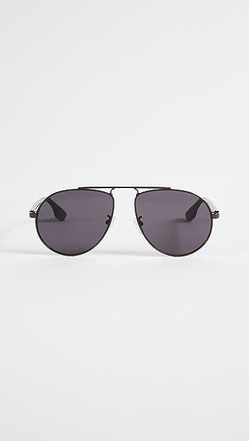 McQ - Alexander McQueen Western Tear Drop Pilot Aviator Sunglasses