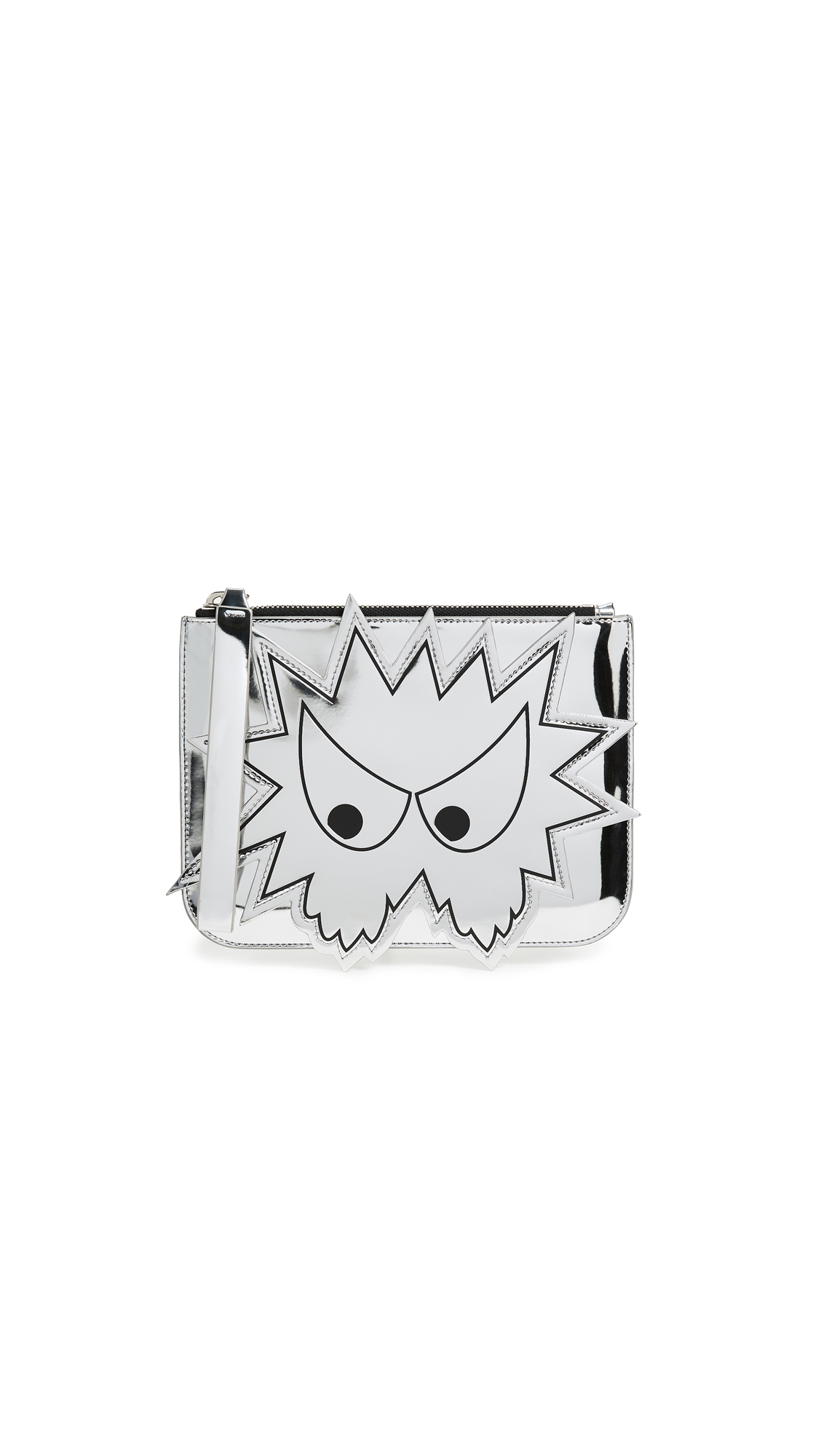 Silver Medium 'Bez' Pouch in Metallic