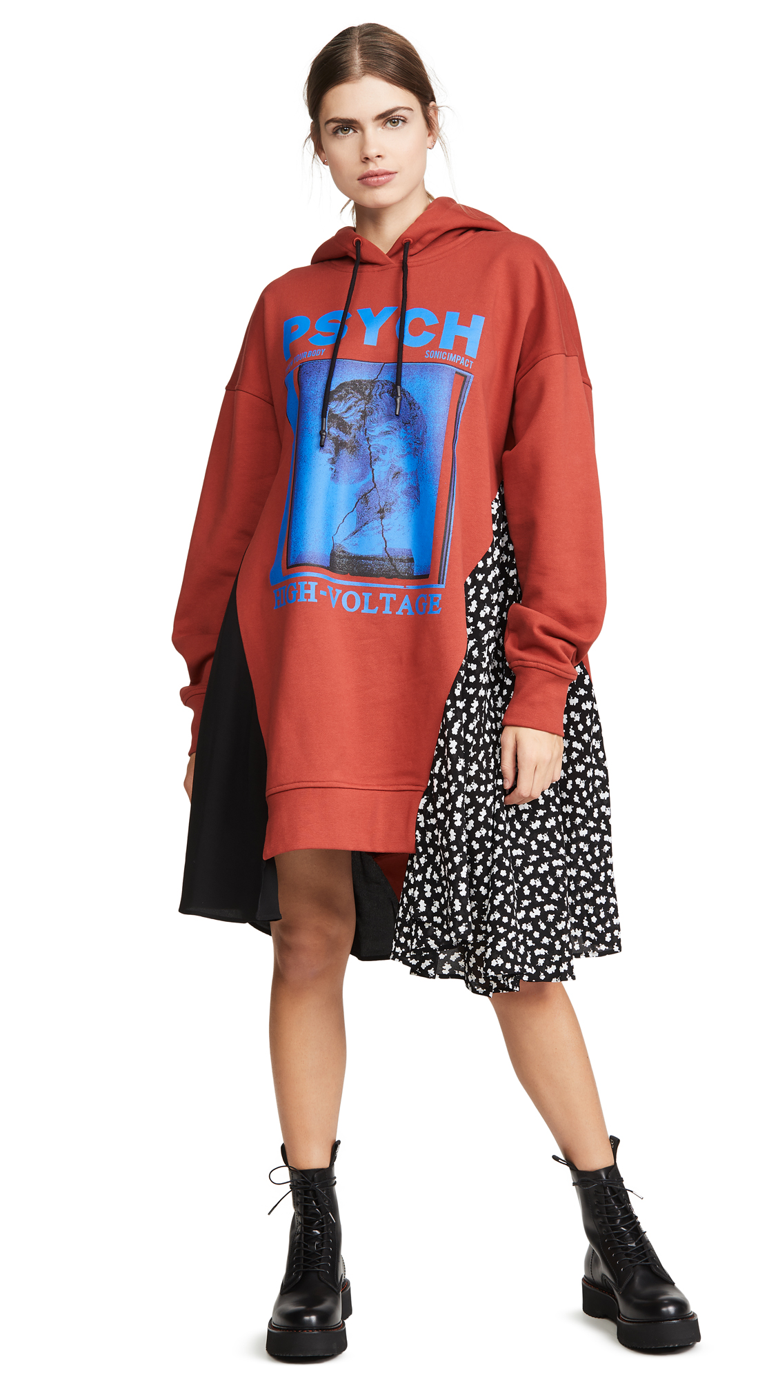 Buy McQ - Alexander McQueen Cut Up Hoodie Dress online beautiful McQ - Alexander McQueen Clothing, Dresses