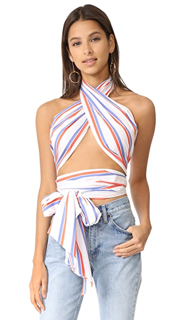 MDS Stripes Everything Scarf Top