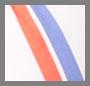 White/Blue/Orange Stripe