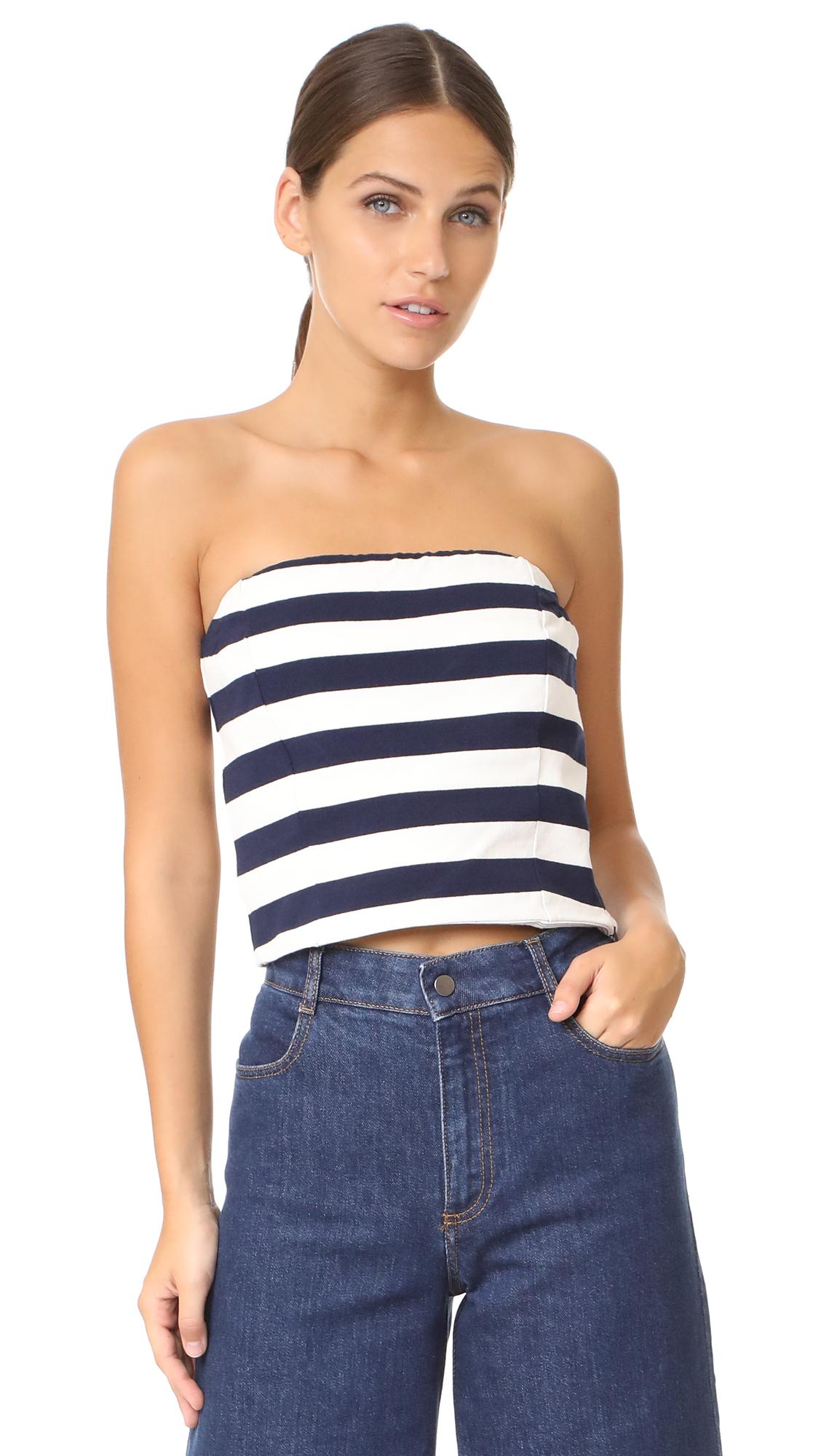 MDS Stripes Bandeau Top - Wide Stripe