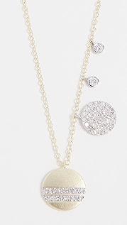 Meira T Колье Circles из 14-каратного золота с бриллиантами