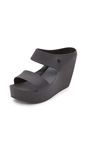 Melissa Creative Wedge Slides - Black