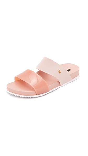 Melissa Cosmic Two Band Slides - Light Pink