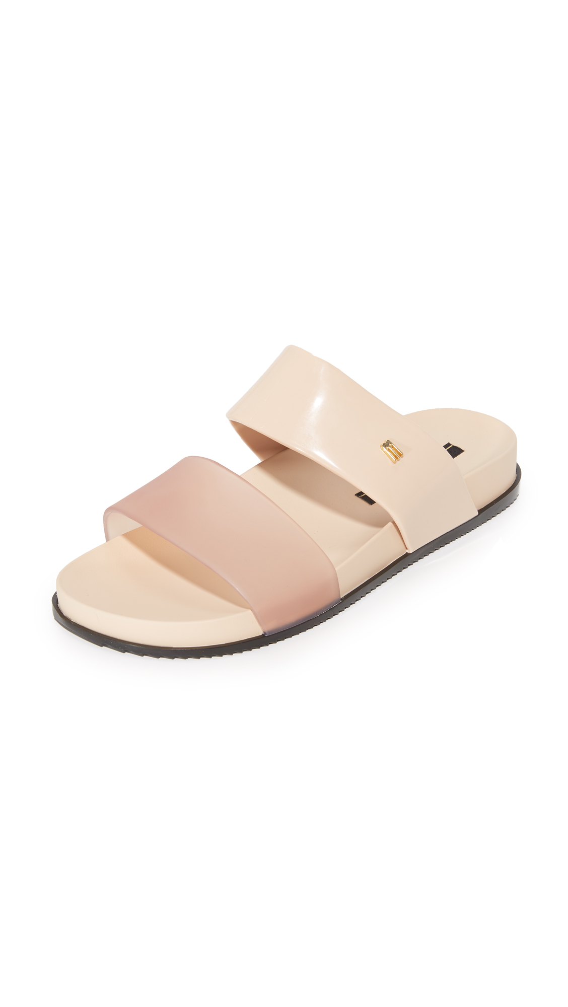 Melissa Cosmic Two Band Slides - Beige