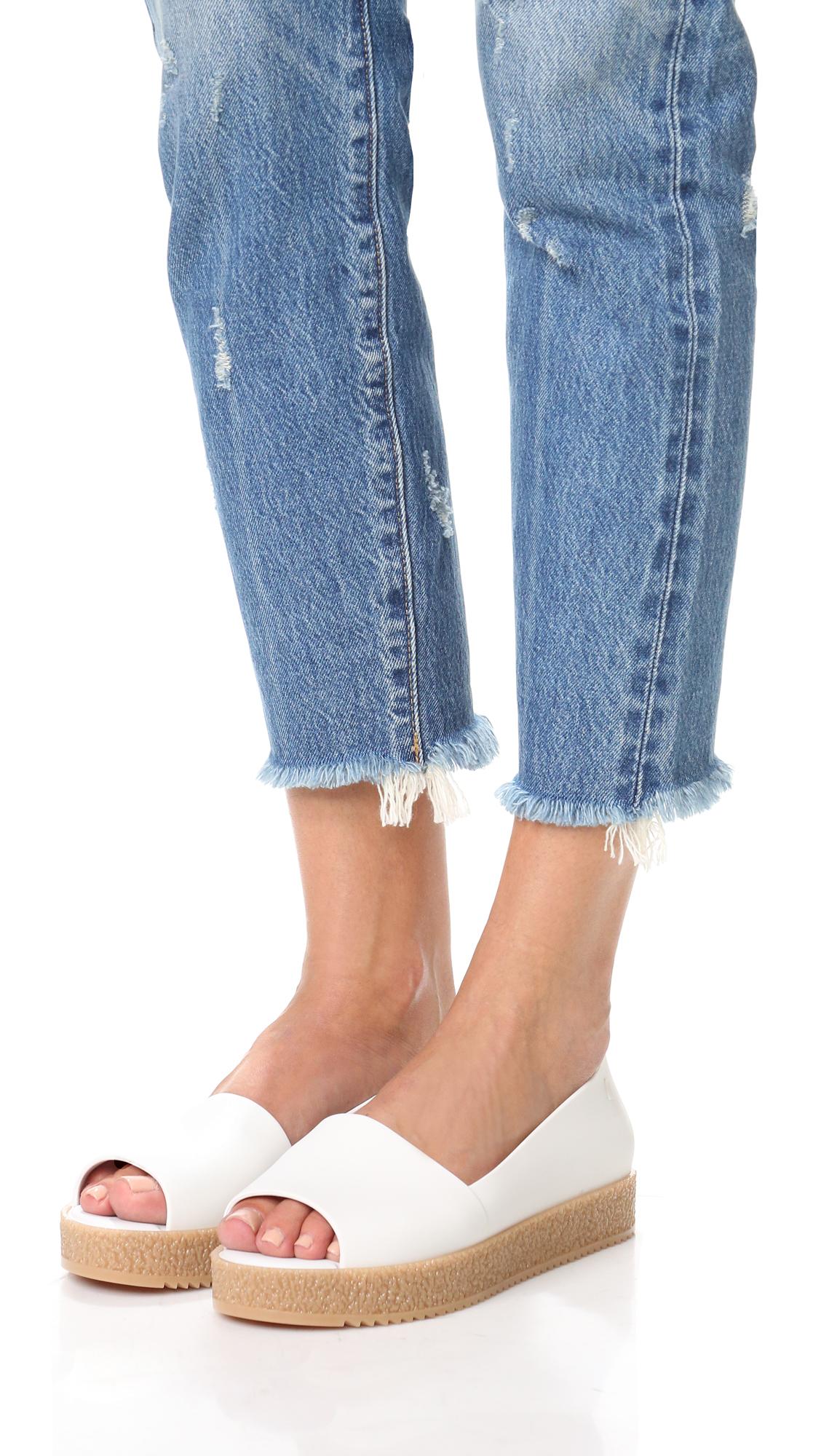 dd970cf09369 Melissa Puzzle Peep Toe Flats