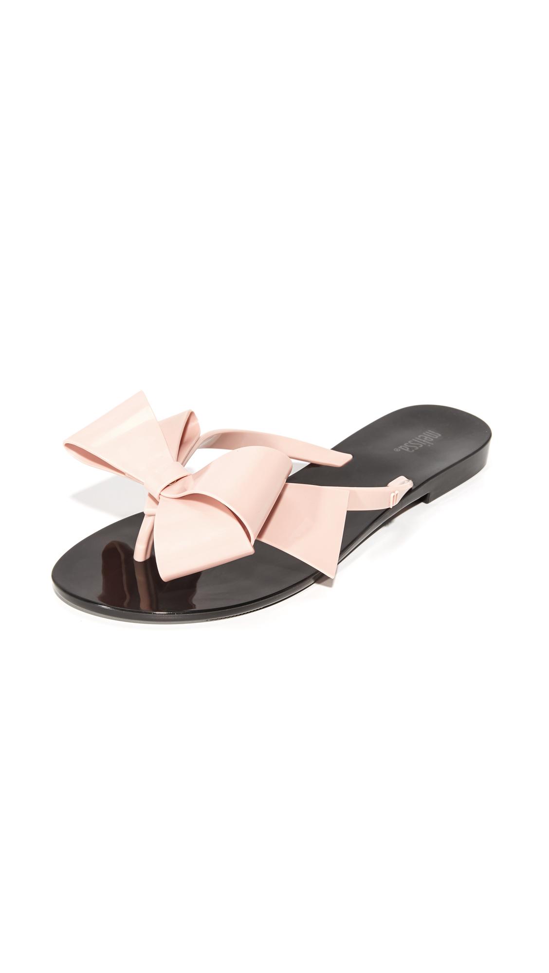 Melissa Harmonic Bow III Thong Sandals - Black/Pink