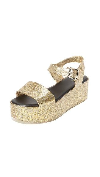 Melissa Mar Flatforms - Champagne Glitter