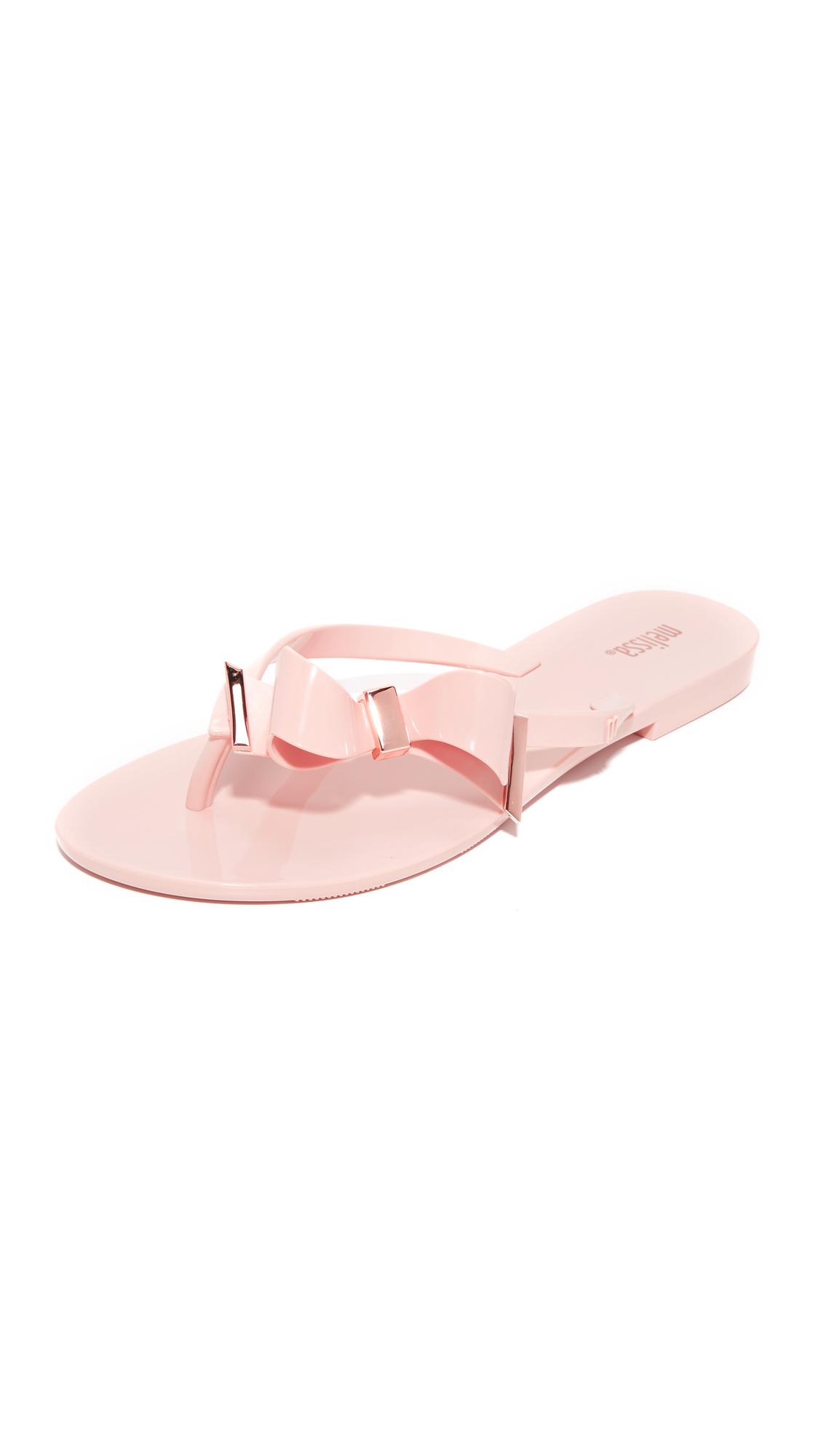 melissa female melissa make a wish iii thong sandals light pink
