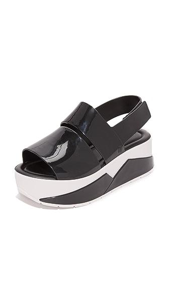 Melissa Sportech Platform Sandals - Black