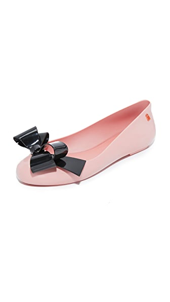 Melissa Space Love Flats - Pink/Black
