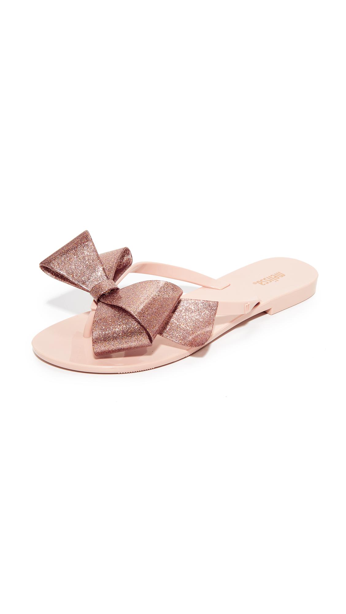 Melissa Harmonic Bow III Flip Flops - Nude