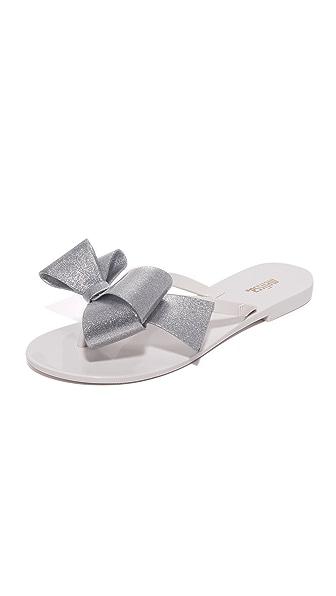 Melissa Harmonic Bow III Flip Flops In White