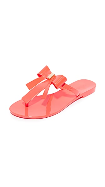 Melissa T-Bar Sandals - Coral