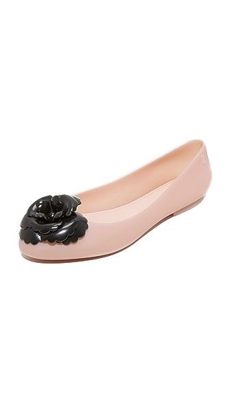 Melissa Doll Fem Flats In Light Pink/Black