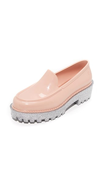 Melissa Panapana Loafers - Pink/Silver Glitter