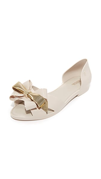 Melissa Seduction Flats - Beige/Gold