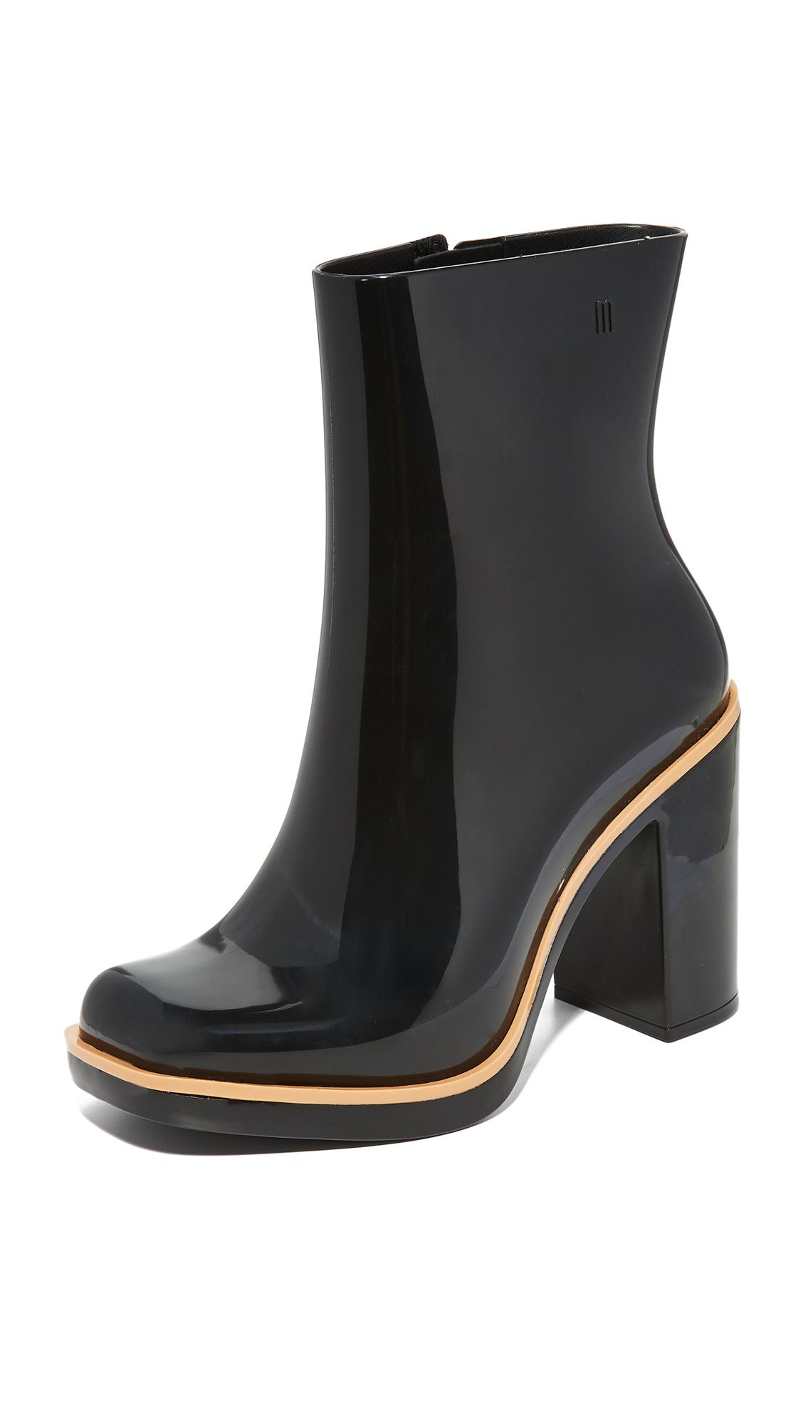 Melissa Classic Rain Booties - Black/Beige