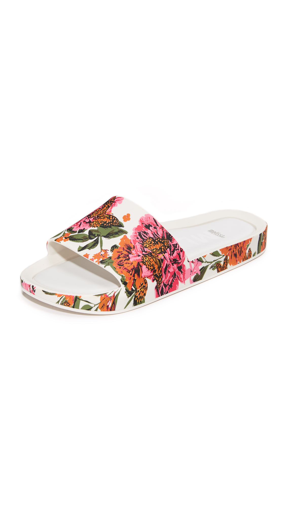Melissa Beach Slides III - Pink/White
