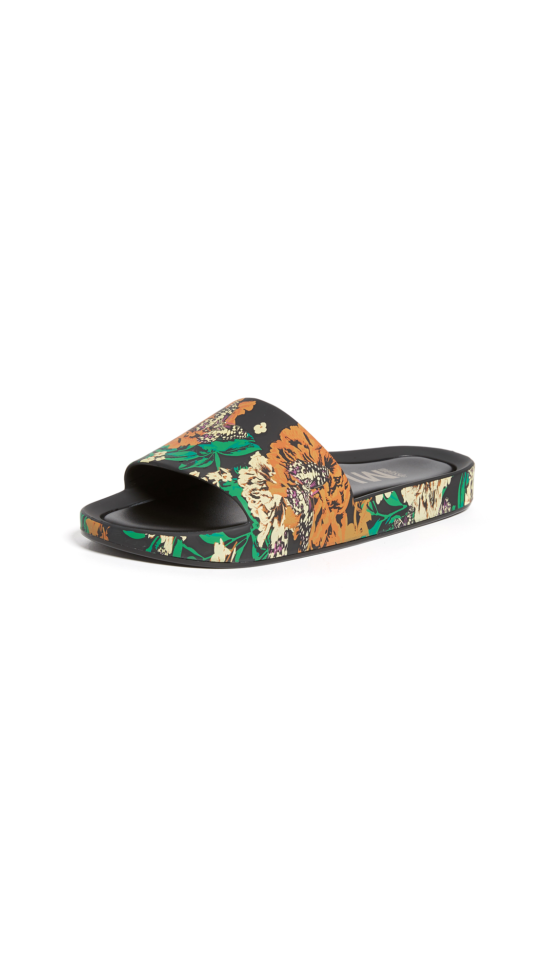 Melissa Beach Slides III - Black/Green