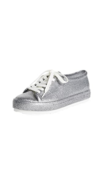 Melissa Be Sneakers In Bright Silver Glitter