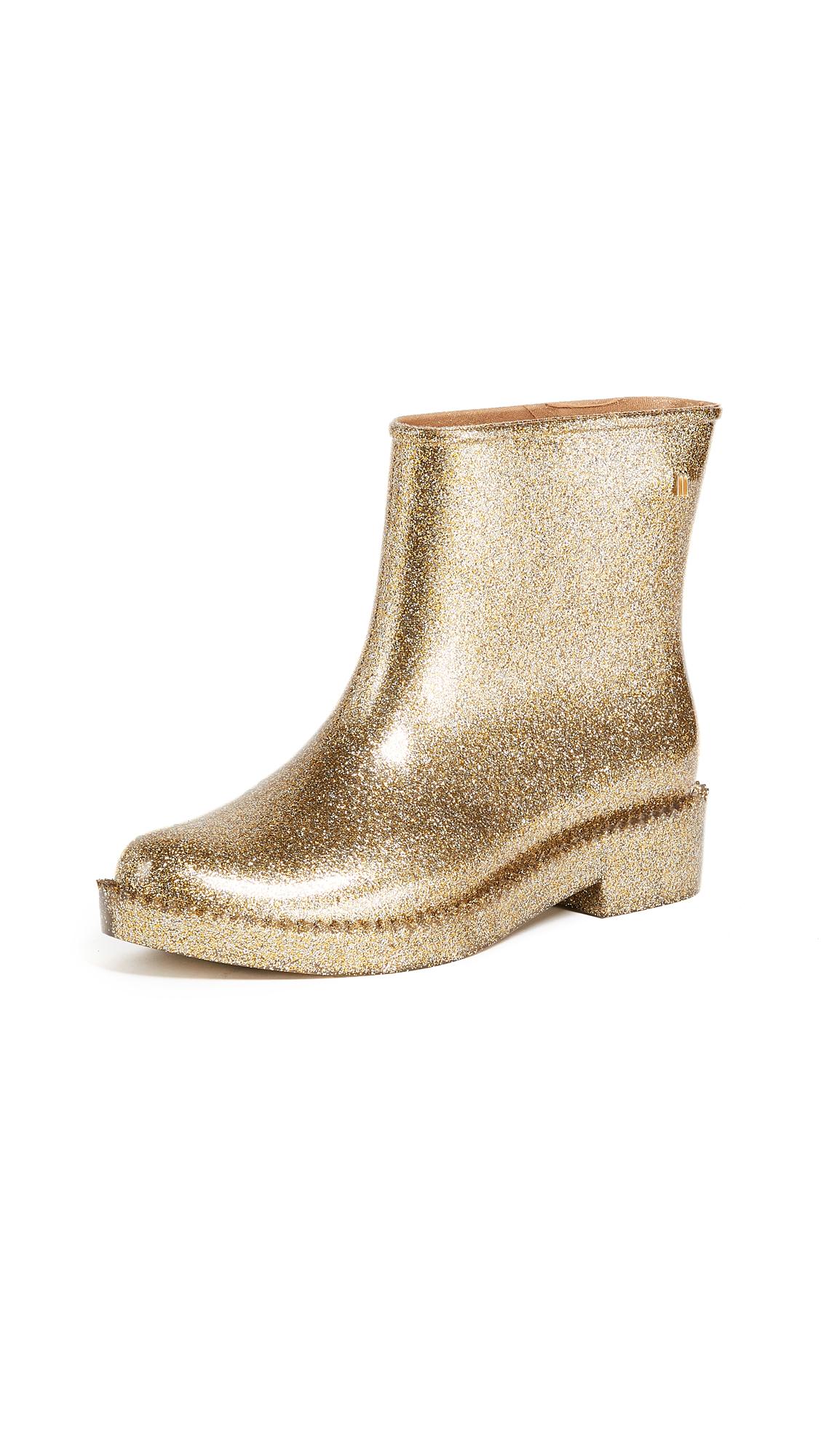 Melissa Drop Rain Boots - Gold Glitter
