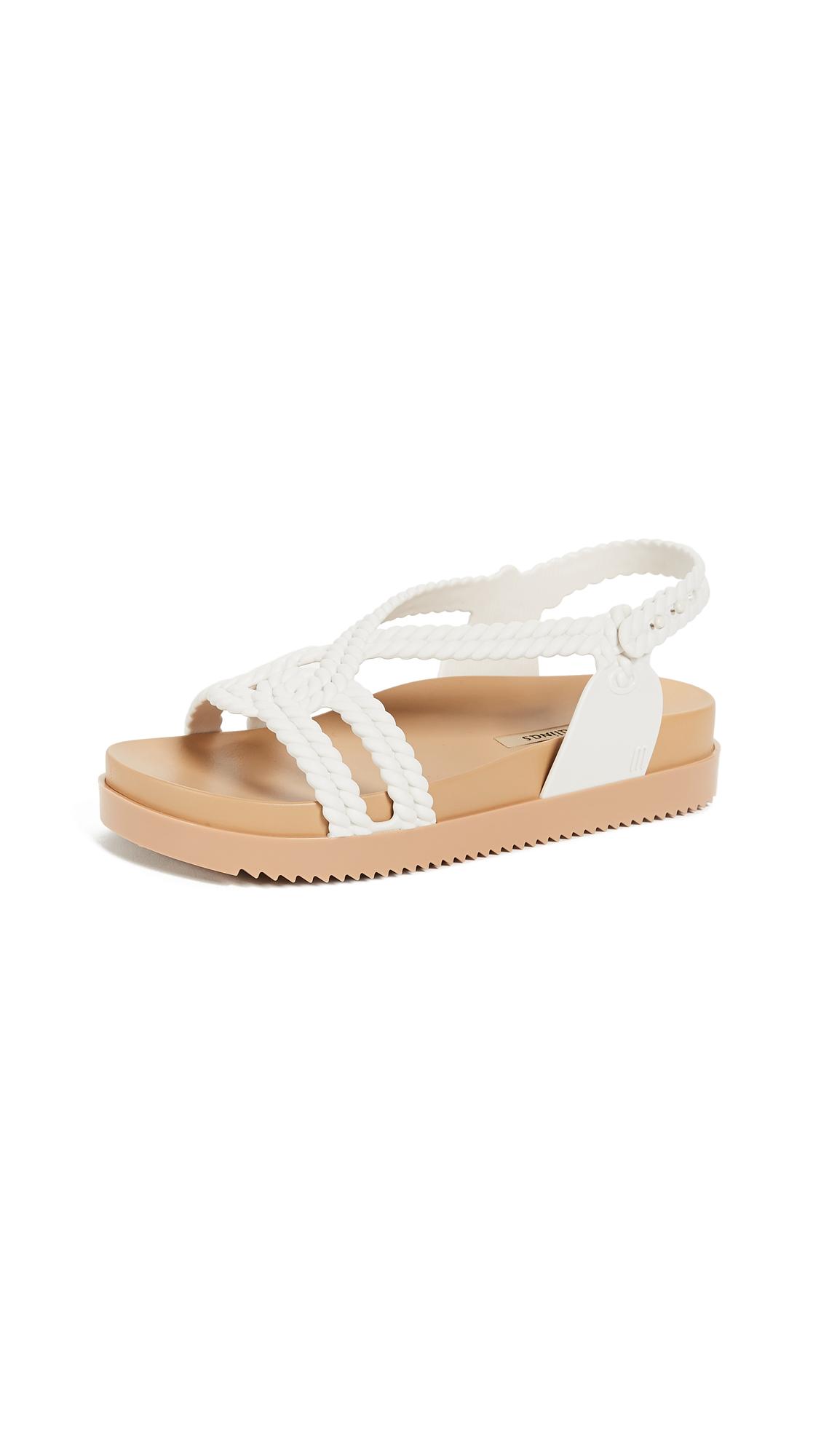 Melissa Cosmic + Salinas Sandals - Beige/White
